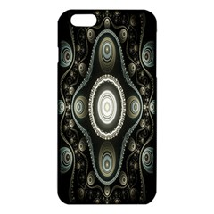 Fractal Beige Blue Abstract iPhone 6 Plus/6S Plus TPU Case