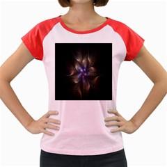 Fractal Blue Abstract Fractal Art Women s Cap Sleeve T-Shirt