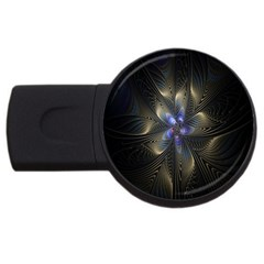 Fractal Blue Abstract Fractal Art Usb Flash Drive Round (2 Gb)