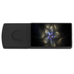 Fractal Blue Abstract Fractal Art Usb Flash Drive Rectangular (4 Gb)