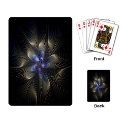 Fractal Blue Abstract Fractal Art Playing Card