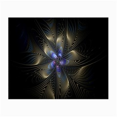Fractal Blue Abstract Fractal Art Small Glasses Cloth (2 Side)