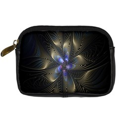 Fractal Blue Abstract Fractal Art Digital Camera Cases