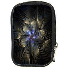 Fractal Blue Abstract Fractal Art Compact Camera Cases