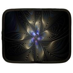 Fractal Blue Abstract Fractal Art Netbook Case (XL)