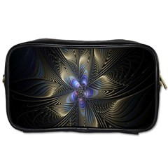 Fractal Blue Abstract Fractal Art Toiletries Bags 2-Side