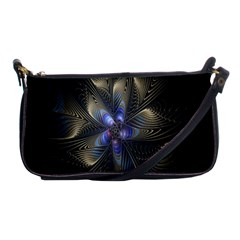 Fractal Blue Abstract Fractal Art Shoulder Clutch Bags