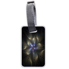 Fractal Blue Abstract Fractal Art Luggage Tags (Two Sides)