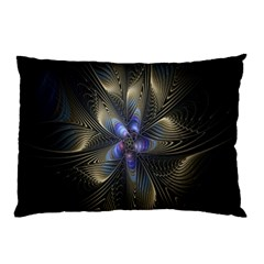 Fractal Blue Abstract Fractal Art Pillow Case (two Sides)