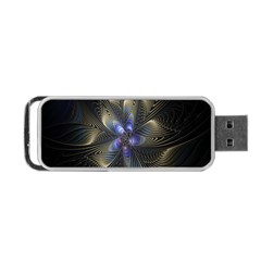 Fractal Blue Abstract Fractal Art Portable USB Flash (One Side)