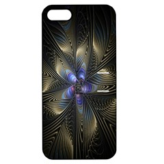 Fractal Blue Abstract Fractal Art Apple Iphone 5 Hardshell Case With Stand