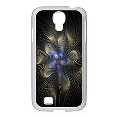 Fractal Blue Abstract Fractal Art Samsung Galaxy S4 I9500/ I9505 Case (white)