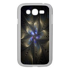 Fractal Blue Abstract Fractal Art Samsung Galaxy Grand DUOS I9082 Case (White)