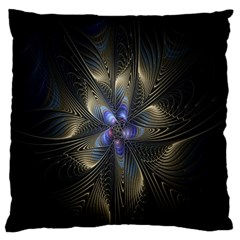 Fractal Blue Abstract Fractal Art Standard Flano Cushion Case (Two Sides)