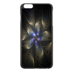 Fractal Blue Abstract Fractal Art Apple Iphone 6 Plus/6s Plus Black Enamel Case