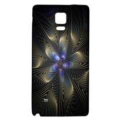 Fractal Blue Abstract Fractal Art Galaxy Note 4 Back Case
