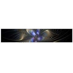 Fractal Blue Abstract Fractal Art Flano Scarf (large)