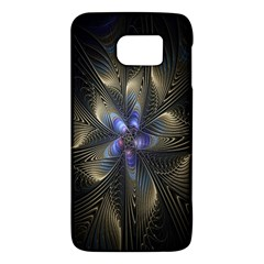 Fractal Blue Abstract Fractal Art Galaxy S6