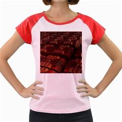 Fractal 3d Render Futuristic Women s Cap Sleeve T Shirt