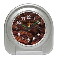 Fractal 3d Render Futuristic Travel Alarm Clocks