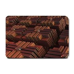 Fractal 3d Render Futuristic Small Doormat