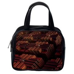 Fractal 3d Render Futuristic Classic Handbags (one Side)