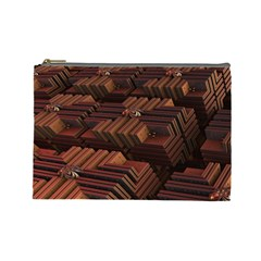 Fractal 3d Render Futuristic Cosmetic Bag (Large)