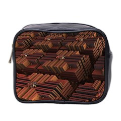 Fractal 3d Render Futuristic Mini Toiletries Bag 2-Side