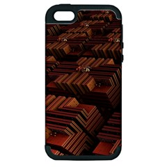 Fractal 3d Render Futuristic Apple iPhone 5 Hardshell Case (PC+Silicone)