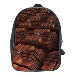 Fractal 3d Render Futuristic School Bags (xl)