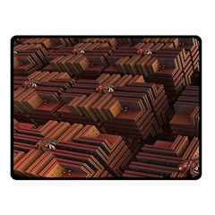 Fractal 3d Render Futuristic Double Sided Fleece Blanket (Small)