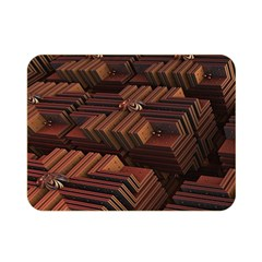 Fractal 3d Render Futuristic Double Sided Flano Blanket (Mini)