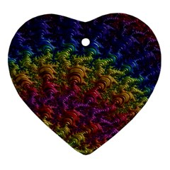 Fractal Art Design Colorful Ornament (Heart)