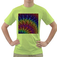 Fractal Art Design Colorful Green T-Shirt