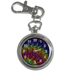 Fractal Art Design Colorful Key Chain Watches