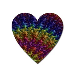 Fractal Art Design Colorful Heart Magnet