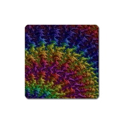 Fractal Art Design Colorful Square Magnet