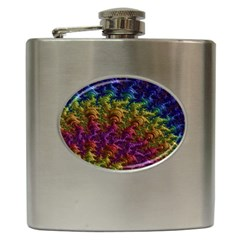 Fractal Art Design Colorful Hip Flask (6 oz)