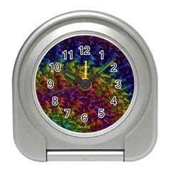 Fractal Art Design Colorful Travel Alarm Clocks