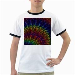 Fractal Art Design Colorful Ringer T-Shirts
