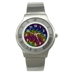 Fractal Art Design Colorful Stainless Steel Watch