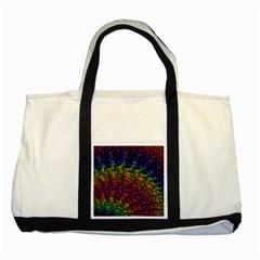 Fractal Art Design Colorful Two Tone Tote Bag