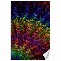 Fractal Art Design Colorful Canvas 24  X 36