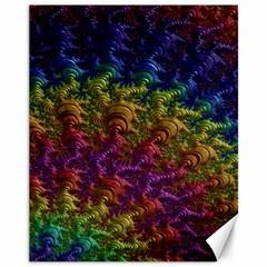 Fractal Art Design Colorful Canvas 11  x 14