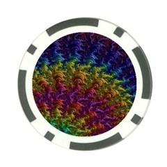 Fractal Art Design Colorful Poker Chip Card Guard