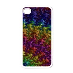Fractal Art Design Colorful Apple iPhone 4 Case (White)
