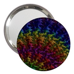 Fractal Art Design Colorful 3  Handbag Mirrors