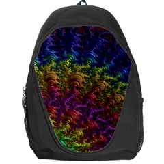 Fractal Art Design Colorful Backpack Bag