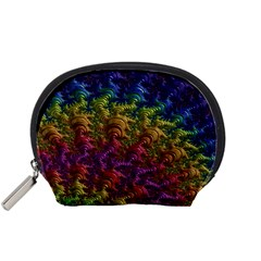 Fractal Art Design Colorful Accessory Pouches (small)