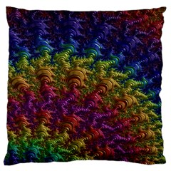 Fractal Art Design Colorful Standard Flano Cushion Case (two Sides)